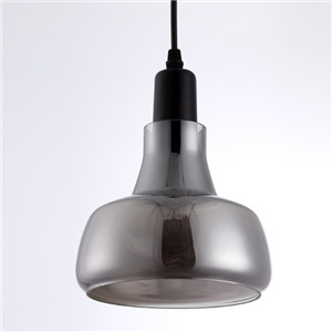 Glass Pendant Light for Kitchen Island Silver Grey Vintage Industrial LOFT