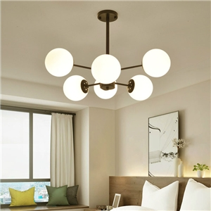 Nordic Simple Chandelier Spray Painting Pendant Light Living Room Bedroom Office Light