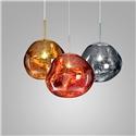 Coloured Pendant Light Electroplating Irregular Lava Pendant Light Acrylic Bedroom Study Light
