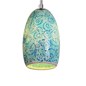 Coloured Glass Pendant Light UK Dining Room Living Room Lighting Idea (Blue)
