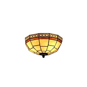Tiffany Style Flush Mount Light Handmade Stained Glass Ceiling Light 10 Inch