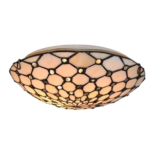Tiffany Style Ceiling Fixture Lamp 2-light 12 Inch Wide