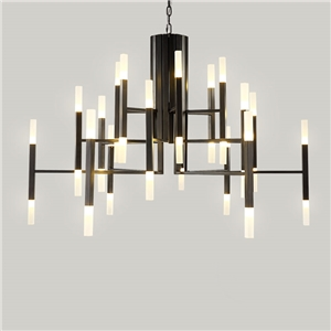 Contemporary Simple Chandelier Electroplating LED Pendant Light Living Room Bedroom Dining Room Light