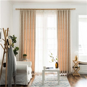 Solid Jacquard Curtain Japanese Imitative Chenille Curtain Bedroom Living Room Semi Blackout Fabric