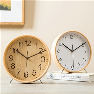 Wooden Mute Alarm Clock Modern Simple Table Clock A/B/C/D Options