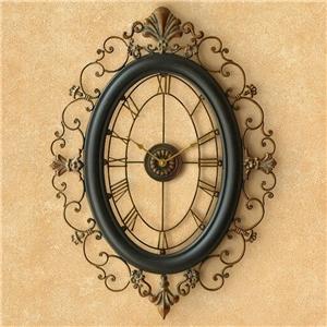 Hollow Elliptical Wall Clock Creative Non Ticking Wall Clock