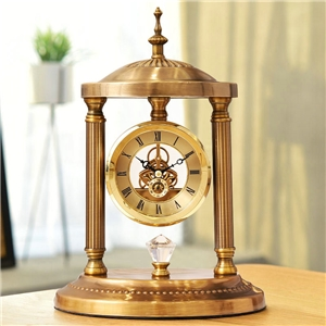 Creative Shape Tabletop Clock Metal Mute Unusual Table Clock