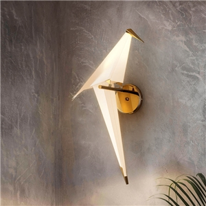 Contemporary Simple Wall Lamp Single Paper Crane Wall Lamp Bedroom Study Wall Light