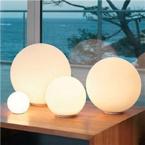 Globe Table Lamp Bold and Lovely Designer White Glass Portable Mini Desktop Lamp