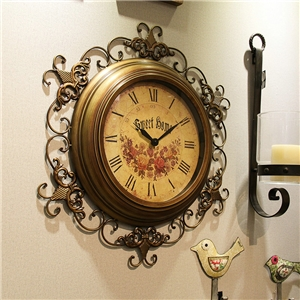 Vintage Wall Clock Non Ticking Metal Lace Wall Clock