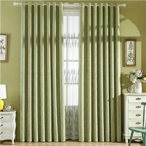 Modern Sheer Curtain Simple Embroidery Sheer Curtain Small Forest Pattern