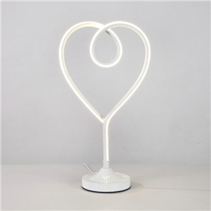 Contemporary Simple LED Table Lamp Aluminum + Iron Fixture Acrylic Shade LED Table Lamp Heart Shape Desk Light