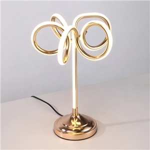 Contemporary Simple LED Table Lamp Aluminum + Iron Fixture Acrylic Shade LED Table Lamp Flower Shape Desk Light