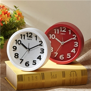 Simple Round Tabletop Clock ABS Mute Table Clock A/B Options
