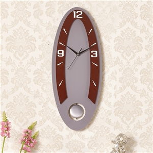 Modern Elliptical Wall Clock Simple Acrylic Mute Clock with Pendulum