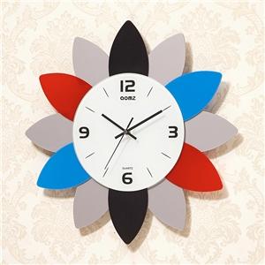 Flower Shape Wall Clock Modern Acrylic Mute Wall Clock A/B Options