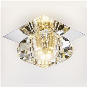Mini Crystal Ceiling Light 1 Light Flush Mount Hallway Light Fixtures