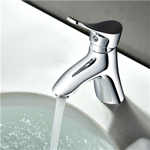 Chrome Sink Faucet Hot and Cold Water Sink Tap