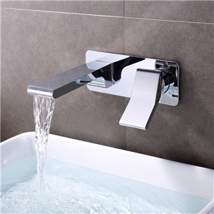 In-wall Chrome Faucet Waterfall Hot and Cold Tap