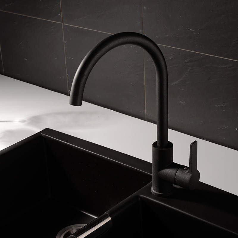 Black Kitchen Faucet Spray Painting Modern Kitchen Tap