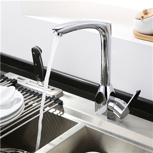 Modern Chrome Kitchen Faucet Single Handle Kitchen Tap with one Handle