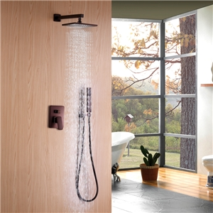 ORB Rainfall Shower High pressurer In-wall Shower Faucet with Shower Head and Handshower