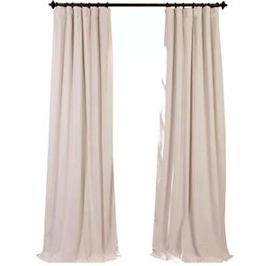 Beige Blackout Curtain Minimalist Velvet Curtain Bedroom Living Room Study Fabric