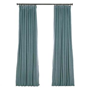 Blue Blackout Curtain Minimalist Velvet Curtain Bedroom Living Room Study Fabric
