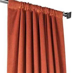 Orange Blackout Curtain Minimalist Velvet Curtain Bedroom Living Room Study Fabric