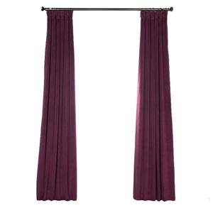 Purple Blackout Curtain Minimalist Velvet Curtain Bedroom Living Room Study Fabric