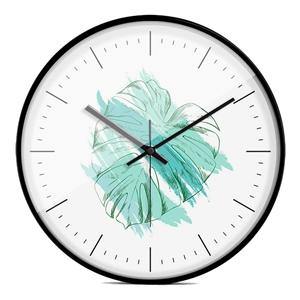 Green Leaf Wall Clock Designer Mute Wall Clcok 12inch