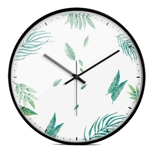Unique Leaf Wall Clock Designer Mute Wall Clock 12inch