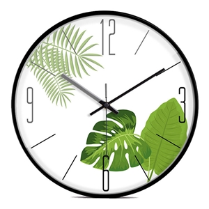 Plants Design Wall Clock Designer Mute Wall Clock 12inch