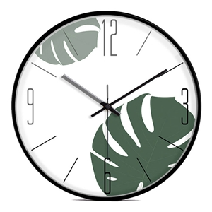 Fresh Leaf Wall Clock Designer Non Ticking Wall Clock 12inch