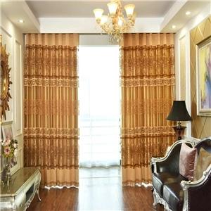 Luxury European Voile Curtain Jacquard Window Sheer