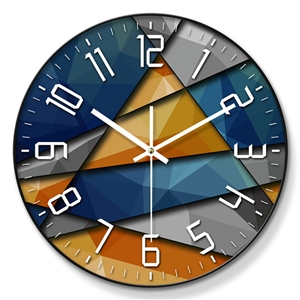 Colorful Designer Wall Clock Metal/PVC Edge Mute Wall Clock 12inch