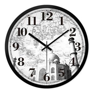 Famous Bulidings Wall Clock Vintage Designer Mute Wall Clock 12inch