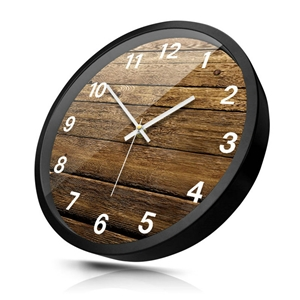 Wooden Gap Pattern Wall Clock Designer Mute Wall Clock 12inch