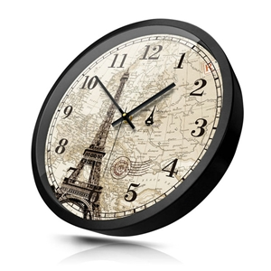 Eiffel Tower Wall Clock Vintage Designer Mute Wall Clock 12inch