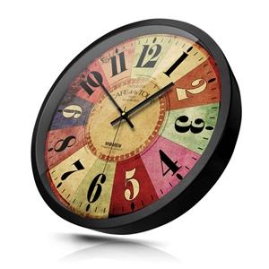 Arabic Numerals Wall Clock Special Vintage Mute Wall Clock 12inch