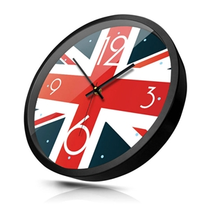Modern Union Jack Wall Clock Nordic Simple Mute Wall Clock 12inch