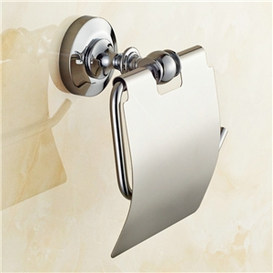 Toilet Roll Holder for Bathroom Copper Chrome Plating Craft European Style Toilet Roll Holder