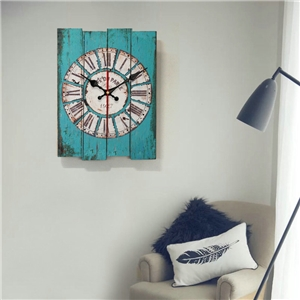 Specail Wooden Wall Clock Medley Rectangle Board Mute Wall Clock