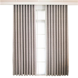 Grey Rose Jacquard Curtain American Chenille Curtain Living Room Bedroom Study Fabric