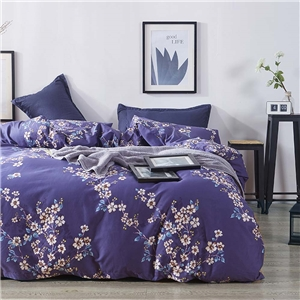 Ornamental Plants Bedding Set Skin-friendly Soft Bedclothes Environmental Protected Pure Cotton 4pcs Duvet Cover Set