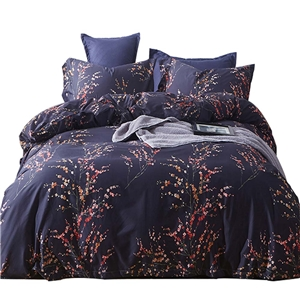 Special Floral Bedding Set Skin-friendly Soft Bedclothes Environmental Protected Pure Cotton 4pcs Duvet Cover Set