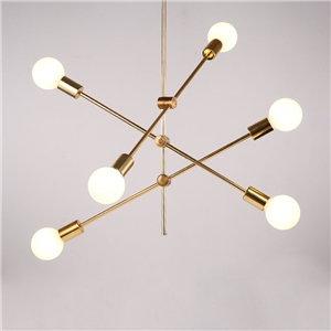 Nordic Simple Pendant Light Electrolplating Golden Pendant Light Living Room Study Light