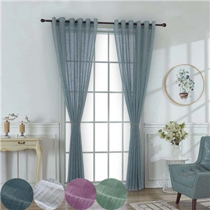 Korean Versatile Sheer Curtain Solid Breathable Living Room Bedroom Sheer Curtain Environment Protective Cotton Linen Fabric(One Panel)