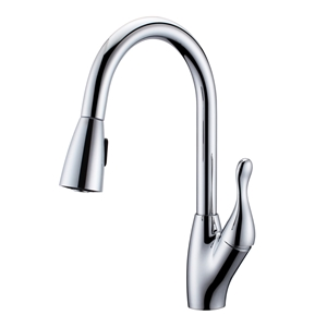 Modern Chrome Kitchen Faucet Pull-out Multifunctional Effluent Kitchen Sink Tap