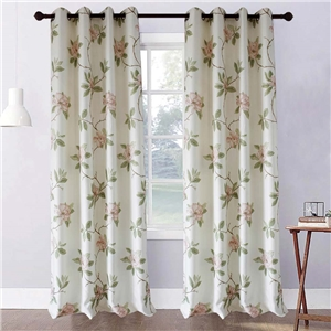 Pink Peony Curtain Simple Rural Printing Curtain Bedroom Living Room Fabric
